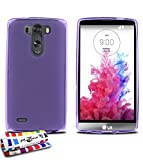 Coque Souple Ultra-Slim LG G3 S (LG G3 MINI) [Le Glossy Hybrid] [Violet] de MUZZANO + STYLET et...