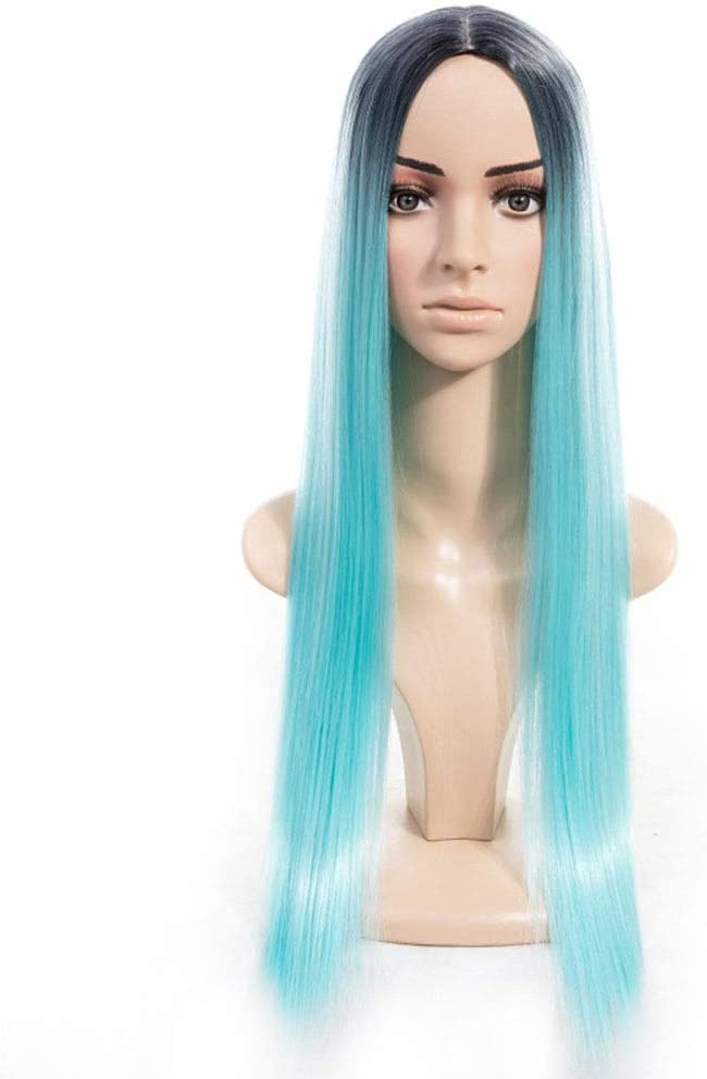 Baltimore Mall Jabetc Wig Ms. Product European and Gradient Hair Carve Long Wi Straight
