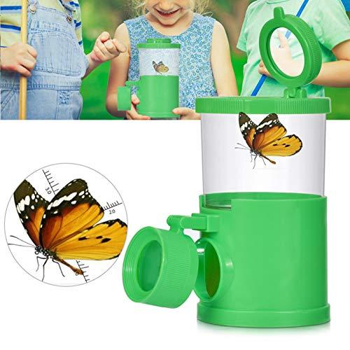 Alomejor Kinder Bug Catcher Insect Viewer Forscherset Spielzeug Lupe Flaschen Set Pädagogisches Puzzle-Spielzeug for Outdoor(Grün)