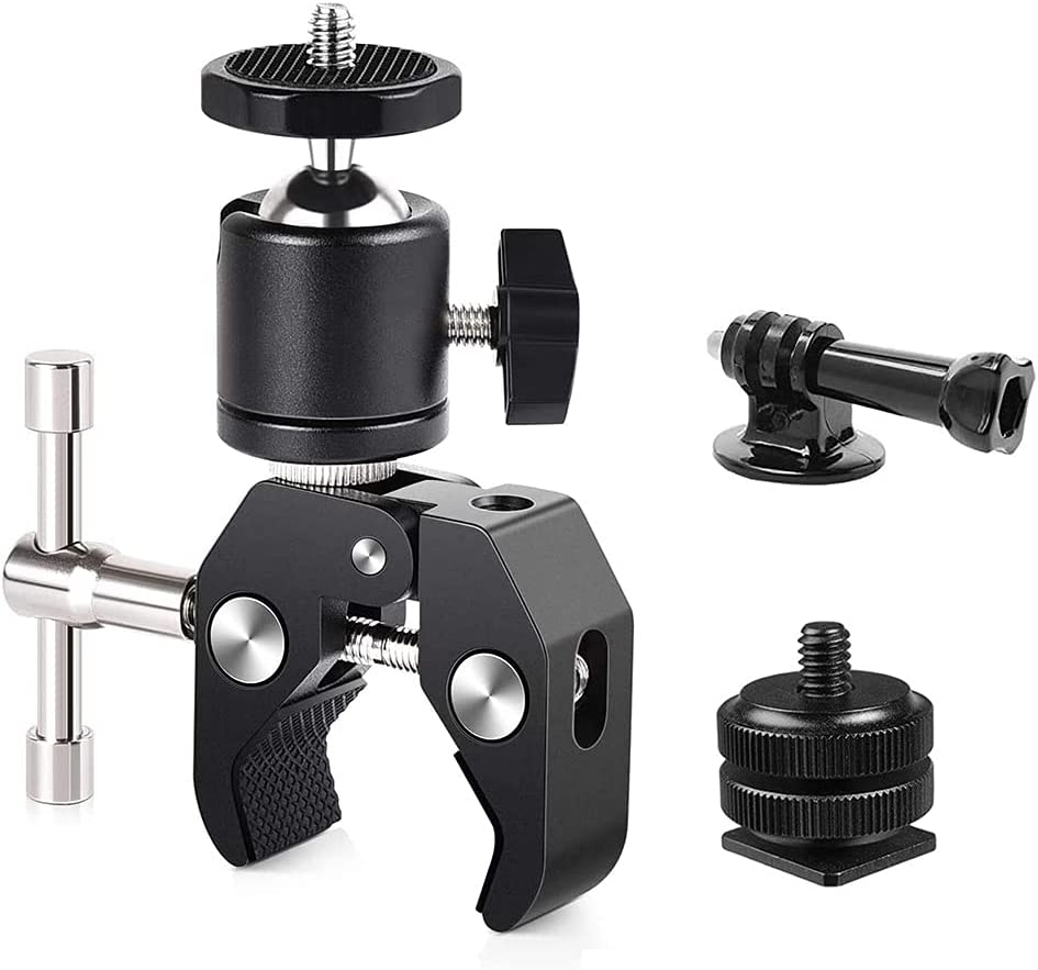 Camera Super Clamp 55% OFF Mount with Ball Houston Mall w Head Hot Adapter Shoe