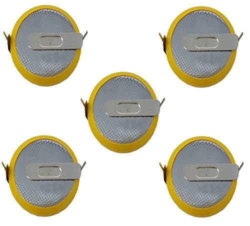 Eunicell 5 x HF-CMOS Batterie/Battery BIOS BR / CR2032-HF mit Lötfahne 3V für PC EINWEG v