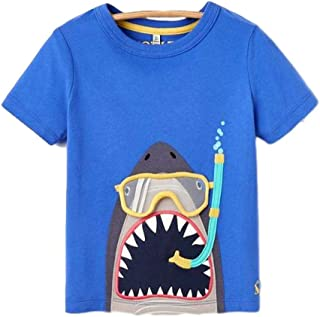 Joules, Chomp Artwork Tee, Blue Scuba Shark,