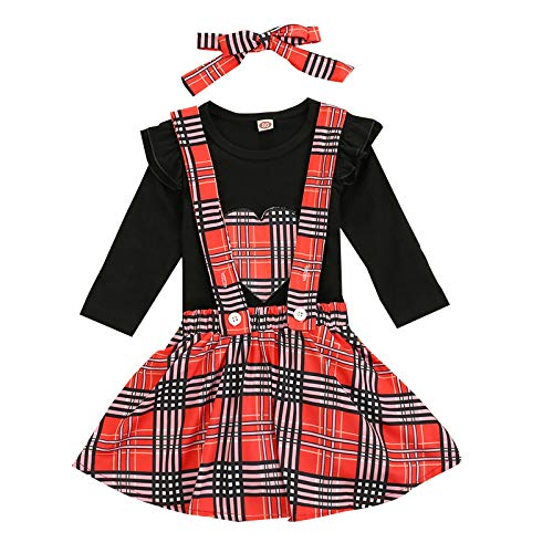Newborn Baby Girls 1st Valentine's Day Costume Princess Outfit with Headband Love Heart Ruffle T Shirt Tutu Love Letter Printed Bowknot Mini Skirt Fancy Dress Up Party 3pcs Girls Dress Clothes Set