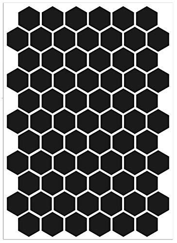 Biomar Labs® 71pcs Negro Kit de Pegatina Reflectante Cinta de Advertencia Seguridad...