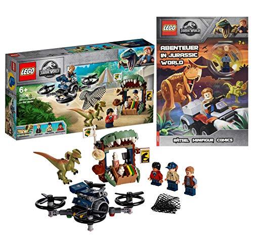 Lego 75934 - Jurassic World Dilophosaurus auf der Flucht + Lego Abenteuer in Jurassic World