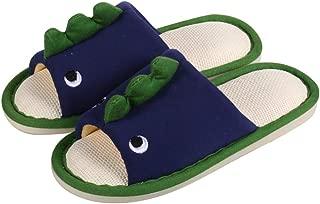Exgingle Kids Boys Girls Open Toe Cartoon Animals Indoor House Slippers Memory Foam Slip On Home Shoes