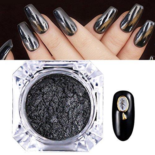 Vernis à ongles, poudre Hunpta Miroir Effet chrome Poudre Pigment ongles NEUF Rose Noir Nail Art