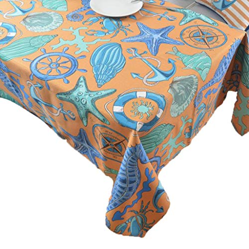 Table Cloths Tablecloths Tablecloth Decorative Tablecloth Water Resistant Tablecloth Ocean Style Tablecloth Thick Cotton And Linen Rectangular Art Coffee Table Cover Towel Restaurant Desk Tablecloth