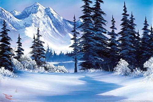 Bob Ross Winter Mountain Art Pri...