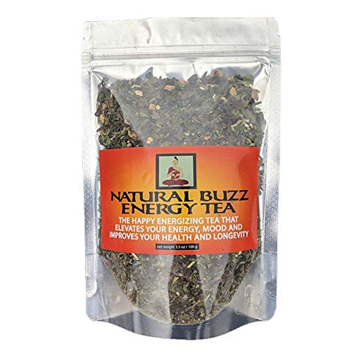 Natural Buzz Energy Tea-Boosts Your Energy And Calms Your Mind-More Energy And Health Benefits Than Coffee, Energy Drinks, Caffeine Pills And Herbal Supplements -100 Gms 30 Servings.