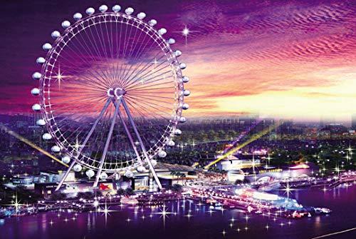 MANSPYF Puzzles Pretty Anime Girl Boy Ferris Wheel 1000 Piezas Rompecabezas De Madera Adultos Niños Educación Rompecabezas Juguetes Regalo Familiar Color D