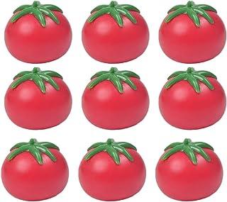 NUOBESTY 9PCS Vent Toy Fake Tomato Splat Tomato Trick Toy Gag Toys for April Fools Day