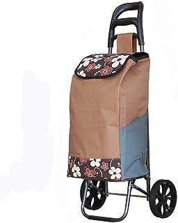 LQBDJPYS Folding Shopping Trolley 2 Wheel Large Capacity Foldable Shopper Luggage Cart Waterproof Fabric Folding Luggage B...