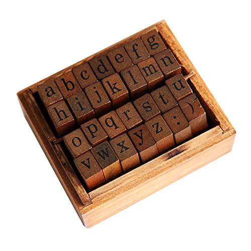 TWW Der Drucker ist in Groß- und Kleinbuchstaben, Retro-Nummern des Handkontos, englischen Buchstaben, Datum des Handkontos und Siegel aus Holzkisten