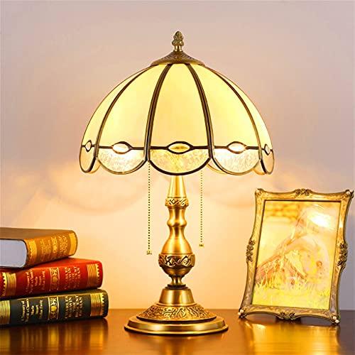 KLDDE Estilo Vintage Antiguo latón táctil lámpara Estilo Americano lámpara de Mesa lámpara de Noche lámpara de Noche Europea Retro cálido Boda Mesa Luces de la Sala de Estar Creativa Luces de Estudio