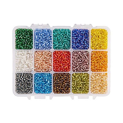 PandaHall Elite Aproximadamente 22500 Piezas 12/0 2mm Multicolor Abalorios de Semillas de...