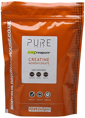 Bodybuilding Warehouse Pure CreaPure Creatine Monohydrate Powder 500g - Helps Performance & Muscle Growth