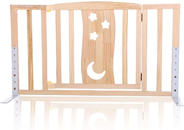 QIANDA Bed Rail Beds Guard Wooden With Door Easy To Enter Anti Fall Drop Safe Up Bed Rail For Kids And Baby Color With Door Size 90cm