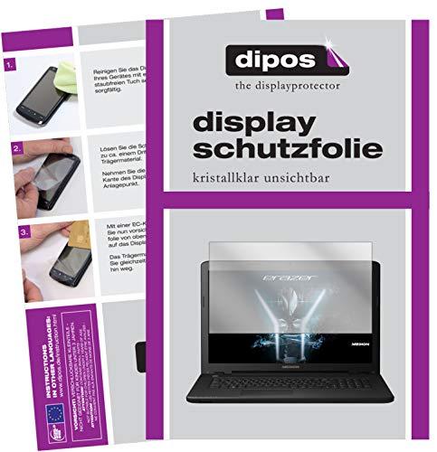 dipos I 2X Protector de Pantalla Compatible con Medion Erazer P6689 pelicula Protectora Claro