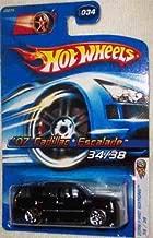 CADILLAC ESCALADE Hot Wheels 2006 First Editions 1:64 Scale Black 2007 Cadillac Escalade Die Cast Truck #034