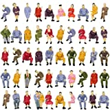 P4302 50pcs All Seated Sitting Figures O Gauge 1/50 Scale Seated People Railway Scenery Miniature Model Train Layout