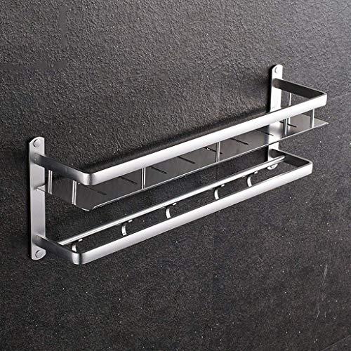ADSE Estantería de baño Cocina Espacio de una Sola Capa Perchero de Aluminio Toallero de Pared para baño Colgante (Tamaño: 60 cm)