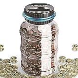 DeeCozy Hucha, Caja de Ahorro de Dinero con conteo Digital de Monedas, 1.8L de Gran Capacidad con Pantalla LCD, Caja de Dinero para Ahorro de Monedas para niños y Adultos (Euro)