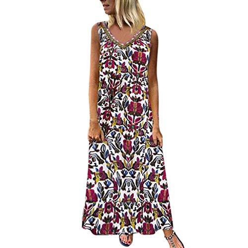 Fossen Vestidos Verano Mujer Largos Casual 2020 Estampado Et