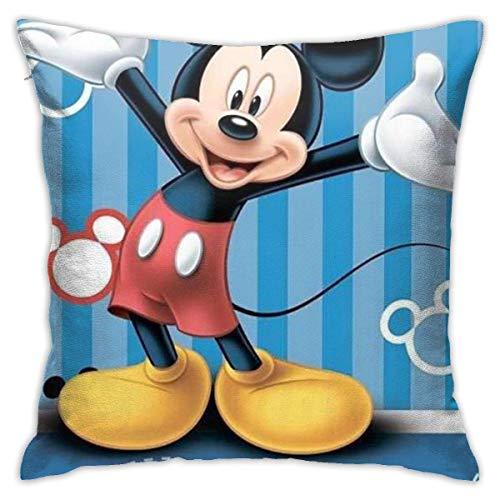 Funda de almohada decorativa con diseño de ratón azul para sofá de casa de 45,7 x 45,7 cm