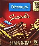 Bicentury - Sarialis - Barritas de cereales y chocolate con leche - 5 barritas x 20 g