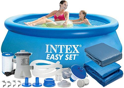 Intex 28112 9 en 1 244 x 76 cm 2419l Full Pool – Juego Easy – Set de Jardín Piscina