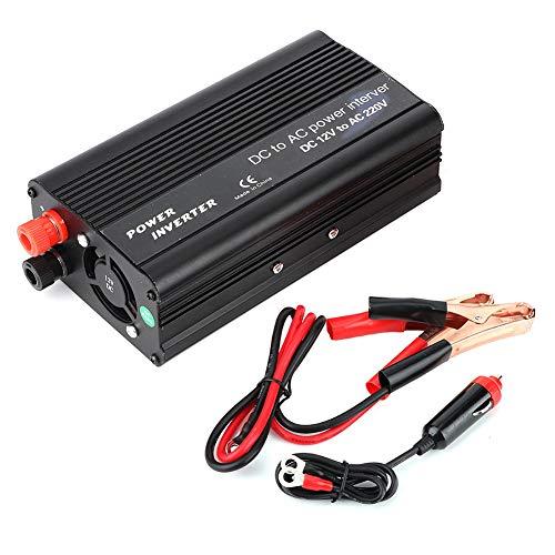 Inversor de corriente 3000W Convertidor DC 12V a AC 220V-240V Inversor de coche de onda sinusoidal modificada con puerto USB Salida de CA para el hogar y el exterior(negro)