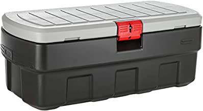 Rubbermaid  ActionPacker Lockable Storage Box, 48 Gal, Grey and Black, Outdoor, Industrial, Rugged