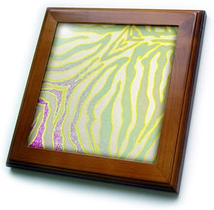 3dRose Al sold out. ft_25745_1 Yellow and Green Pastel Til Gorgeous Zebra Print-Framed