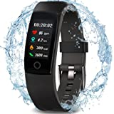 Waterproof Health Tracker, MorePro Fitness Tracker Color Screen Sport Smart Watch, Activity Tracker with Heart Rate Blood Pressure Calories Pedometer Sleep Monitor Call/SMS Remind for Smartphones.