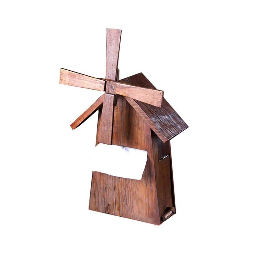 無効生物学手首GWM 木製の手作りティッシュホルダーボックス - キッチンロールホルダー - ペーパータオルホルダー、ナプキンホルダーオーガナイザースタンド、壁掛け式またはフリースタンド式、風車
