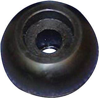 C.H. Rolo de tampa de borracha preta Yates 224-5 - 6,35 cm x 4,5 cm. x 0,625 pol.