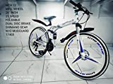 21 Speed Folding Mountain Bike Bicycle 26-inch Male and Female Students Shift n Shock Absorber Adult...