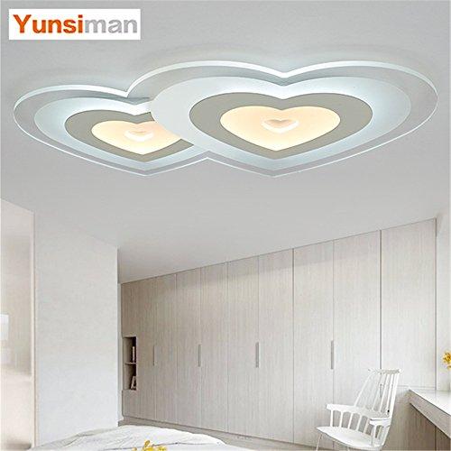 BRIGHTLLT Ultra-fin, un mariage romantique prix personnalité créatrice Filles Garçons heart-shaped led lampe de plafond chambre princesse chambre enfants l'éclairage, 600 * 370mm