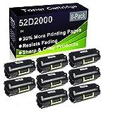 Paquete de 8 cartuchos de tóner (negro), compatible con impresoras Lexmark MS810de MS810dn MS810dtn MS810dtn MS810n MS811dn MS811dtn MS811n