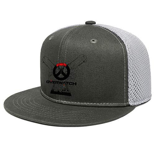 Unisex Overwatch Full Logo Black Reaper Hats Style Sunshade Truck Cap