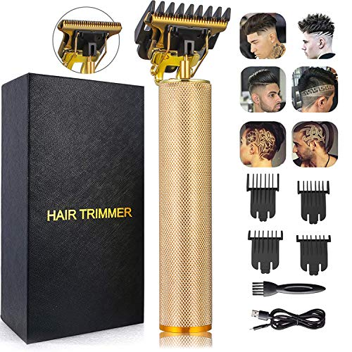 Hair Clippers for Men Barber Cordless Beard Hair Trimmer, T-Blade Close Cutting Hair Outliner Razor, USB Rechargeable, Beard Trimmer Bald head Clipper Best gift for Christmas, Birthday, Father