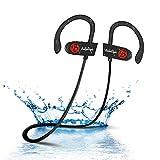BelleStyle Bluetooth Kopfhörer, Leichte Bluetooth 4.1 Ear Ohrhörer mit Mikrofon, IPX7 Wasserschutz Stereo Headset für iPhone, iPad, Samsung, Nexus, HTC, LG und mehr