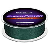KastKing Superpower Braided Fishing Line,Moss Green,15 LB,327 Yds