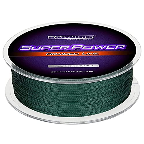 KastKing Superpower Braided Fishing Line,Moss Green,30 LB,327 Yds