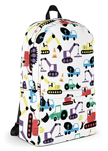 Tiddlers & Nippers Kids Backpack | Kids School Bag/Kids Rucksack | Ideal for School, Nursery, Holidays & Travel. (Diggers & Lorries)