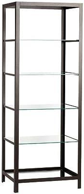 milanari Eisen-Regal Reims schwarz-braun 75 x 55 x 200 cm