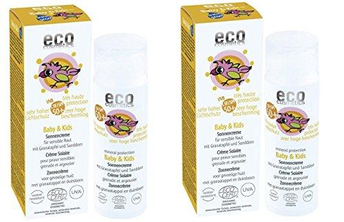 eco cosmetics Bio Baby und Kids Sonnencreme LSF 50 (2 x 50 ml)