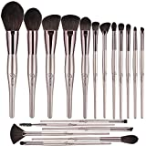 BESTOPE 18PCS Makeup Brushes Set Professional Cosmetic Brushes Premium Synthetic for Blending Foundation