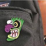 JTXZD Broche OOGA Booga! Big Nose Horror máscara Pin Esmalte Pin Hero Perro Programa de televisión Broche de Solapa Insignia de Mezclilla Divertido para los niños